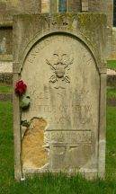 Stone in churchyard in honour of those that died - Click on the image to Enlarge