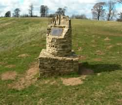 Memorial to the Battle of Stow on the hill where the battle commenced - Click on the image to Enlarge