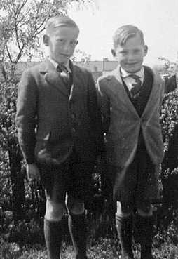 Brothers Ralph and Collin at the ages of 13 and 11 (1951)