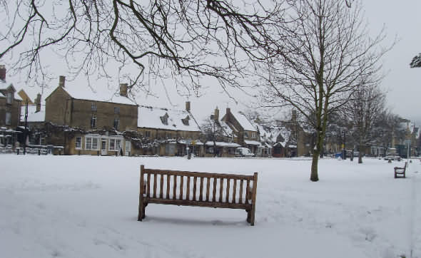 View across village green