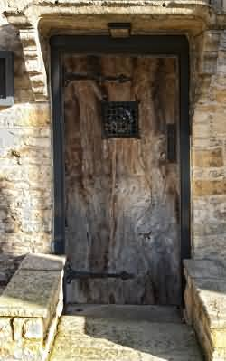 Original 15th century cottage doorway with elm door