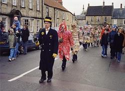 Mummers at the Cotswold town of Marshfield