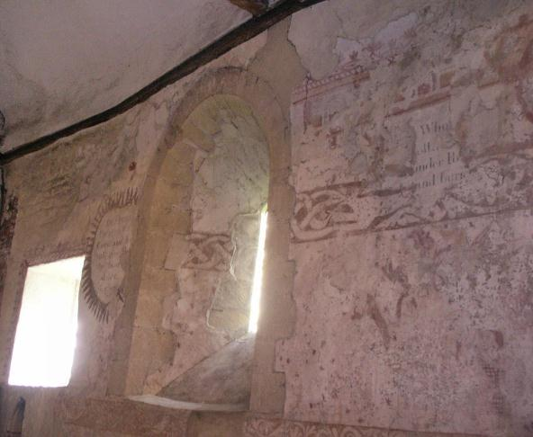 Ancient Wall Painting at St. James the Great church at Stoke Orchard