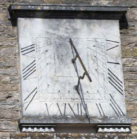sundial on Woodstock Church