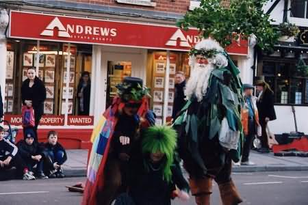 Tewkesbury Mummers in action