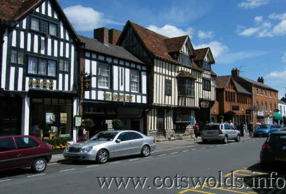 Tudor buildings on Sheep Street