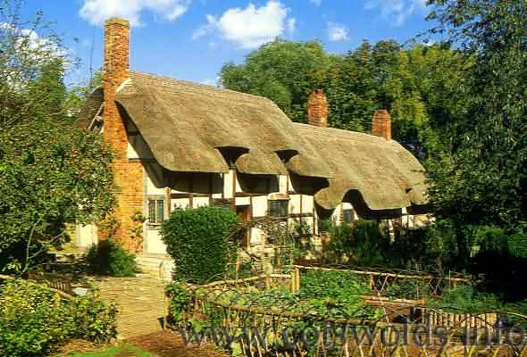 The thatched cottage of Anne Hathaway, William Shakespeare's wife
