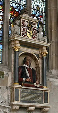 Shakespeare's Funerary Monument in the Holy Trinity Church