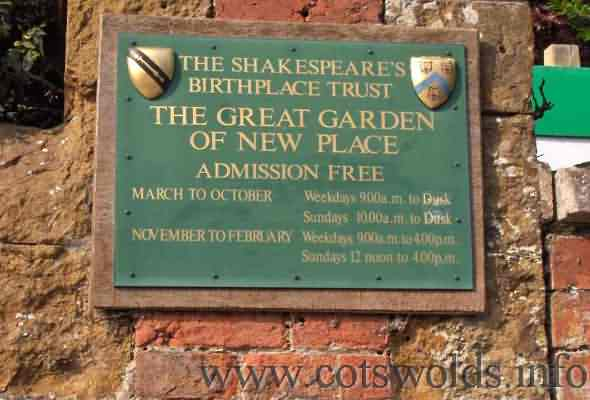 Great Garden Entrance Plaque