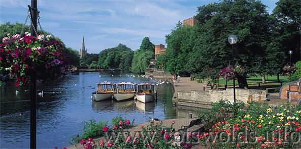 The River Avon with Shakespeare Theatre and Church in the background