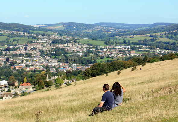 View of Stroud from Selsley Common