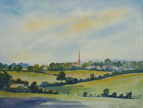 Painting of Tetbury by Sue Townsend
