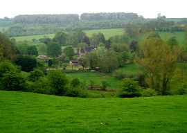 Overlooking the Cotswold village of Turkdean