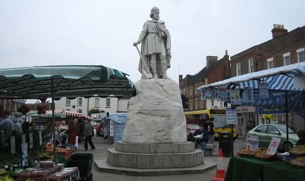 The Anglo Saxon King, King Alfred The Great at Wantage in Oxfordshire
