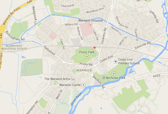 Map of Warwick