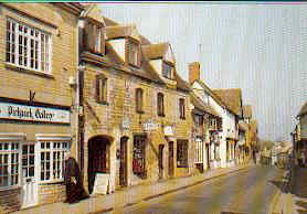 ancient shopping street in Winchcombe