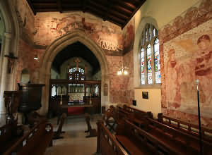 St James Church at South Leigh with wall paintings